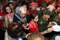 Speicher-Uhr Tätigkeit der Jugend patriotische Lizenzfreie Stockfotografie