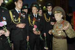 Speicher-Uhr Tätigkeit der Jugend patriotische Stockbilder