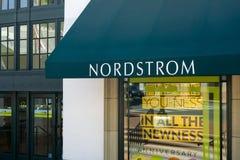 Speicher und Zeichen Nordstrom Stockbild