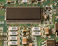 Speicherchip und andere elektronische Bauelemente Stockfoto
