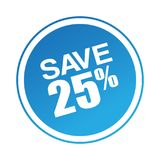 Speichern Sie Angebot 25 Lizenzfreies Stockfoto