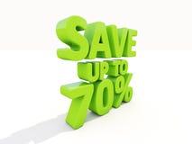 Speichern Sie bis 70% Lizenzfreies Stockbild