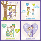 Speichern Sie den Datums-Hochzeits-Karten-Satz Lizenzfreie Stockfotografie