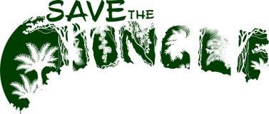 Speichern Sie die Dschungelregenwald-Vektorillustration für T-Shirt und anderes Gebrauch Lizenzfreies Stockbild