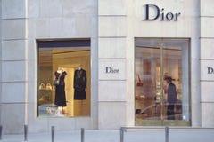 Speichern Sie Dior in der Mitte von Kiew Stockbild