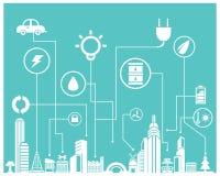 Speichern Sie Energieinformationsgraphik Lizenzfreie Stockfotografie