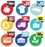 Speichern Sie Förderungsaufkleber Lizenzfreie Stockfotografie