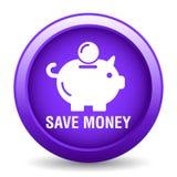 Speichern Sie Geld-Sparschwein-Ikone lizenzfreie abbildung