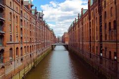 Speicherstadt à Hambourg photo stock