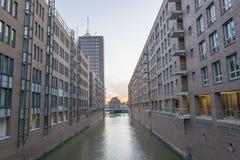 Speicherstadt à Hambourg Images libres de droits