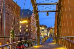 speicherstadt ночи hamburg стоковые фотографии rf