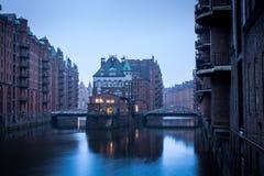 Speicherstadt a Amburgo, Germania Fotografie Stock