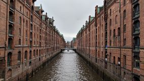 Speicherstadt: City of Warehouses in Hamburg, Germany. The Speicherstadt or the City of Warehouses in Hamburg, Germany. This is a UNESCO World Heritage site Royalty Free Stock Image