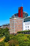 Speicherstadt district in Hamburg city, Germany royalty free stock photography