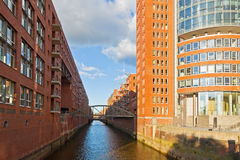 Speicherstadt district in Hamburg, Germany Royalty Free Stock Image
