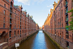 Speicherstadt district in Hamburg, Germany Royalty Free Stock Photography