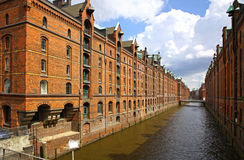 Speicherstadt district in Hamburg, Germany Stock Images