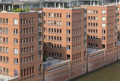 Speicherstadt - distrito del almacén en Hamburgo, Alemania Imagen de archivo libre de regalías