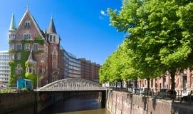 Speicherstadt em Hamburgo Imagem de Stock Royalty Free