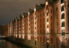 Speicherstadt em Hamburgo Fotografia de Stock Royalty Free