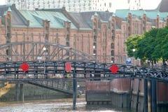 Speicherstadt en Hamburgo fotos de archivo libres de regalías