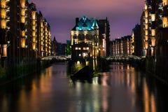 Speicherstadt en Hamburgo imagenes de archivo