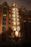Speicherstadt Hambourg la nuit Photo libre de droits