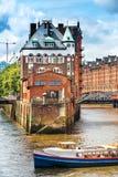 Speicherstadt in Hamburg Stockfotos