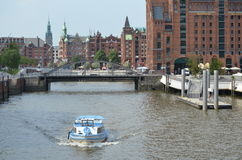 Speicherstadt Hamburg, City of Warehouses in Hamburg Stock Photo