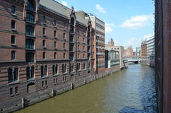 Speicherstadt Hamburg, City of Warehouses in Hamburg Royalty Free Stock Photography