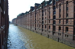 Speicherstadt Hamburg, City of Warehouses in Hamburg Royalty Free Stock Images