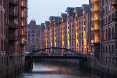 Speicherstadt in Hamburg Stock Photo