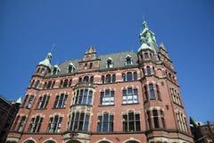 Speicherstadt in Hamburg, Germany. Old architecture in the Speicherstadt in Hamburg, Germany Stock Photo