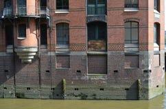 Speicherstadt Hamburg, Stadt von Lagern in Hamburg Stockfotografie