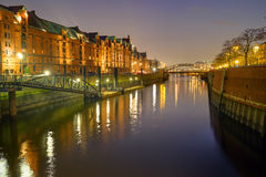 The Speicherstadt in Hamburg Royalty Free Stock Photography