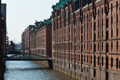 Speicherstadt, Hamburgo Imagen de archivo libre de regalías
