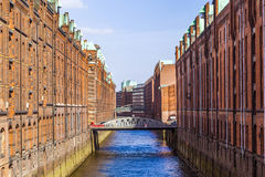 Speicherstadt, Large Warehouse District Of Hamburg Royalty Free Stock Photos