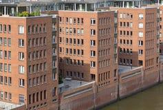 Speicherstadt - pakhuisdistrict in Hamburg, Duitsland Royalty-vrije Stock Afbeelding