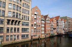 Speicherstadt/pakhuizen in Hamburg Stock Afbeeldingen