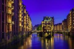 Speicherstadt velho em Hamburgo Fotografia de Stock Royalty Free