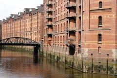 Speicherstadt w Hamburg zdjęcie royalty free