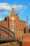 Speicherstadt warehouse district of Hamburg Royalty Free Stock Images