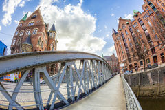 Speicherstadt (Warehouse district) in Hamburg, Germany Royalty Free Stock Images
