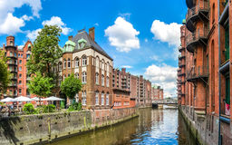 Speicherstadt warehouse district in Hamburg, Germany Royalty Free Stock Photography