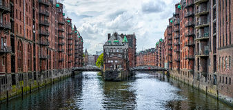 Speicherstadt warehouse district in Hamburg, Germany Royalty Free Stock Photo