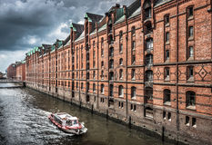 Speicherstadt warehouse district in Hamburg, Germany Stock Photography
