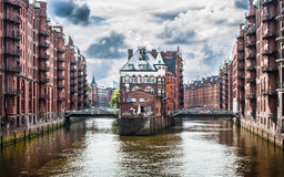 Speicherstadt warehouse district in Hamburg, Germany Stock Images