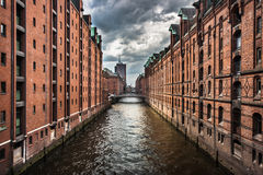 Speicherstadt warehouse district in Hamburg, Germany Royalty Free Stock Images