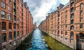 Speicherstadt warehouse district in Hamburg, Germany Royalty Free Stock Photos