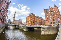 Speicherstadt (Warehouse district) in Hamburg, Germany Royalty Free Stock Image